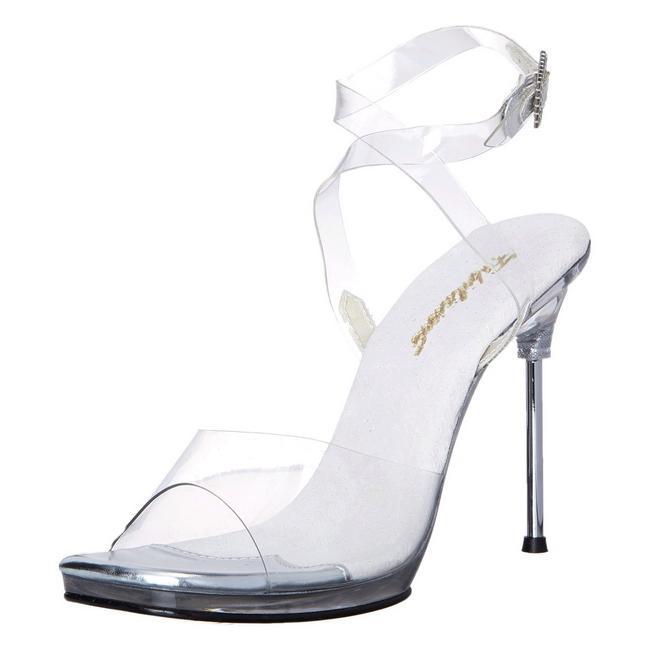 CHIC-06 transparent sandales talon aiguille taille 35 - 36