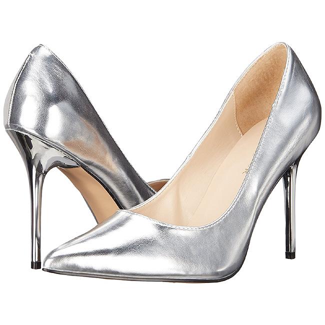 CLASSIQUE-20 argent chaussure talon aiguille taille 37 - 38